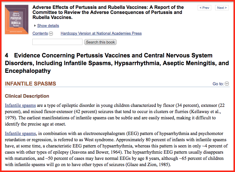Adverse Effects of Pertussis and Rubella Vaccines encefalopatie