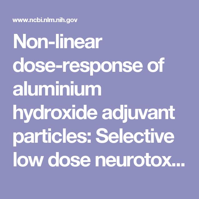 Non-linear dose-response of aluminium hydroxide adjuvant particles